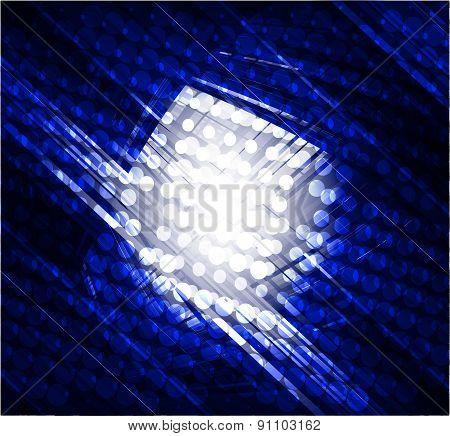 Virtual technology vector dark blue background