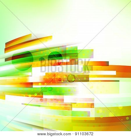 Abstract Bottom Oriented Summer Colors Background