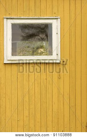 Wooden wall with window