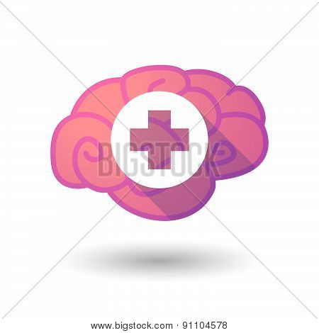 Brain Icon With A Pharmacy Sign