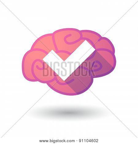 Brain Icon With A Check Mark