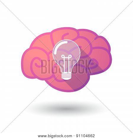 Brain Icon With A Light Bulb