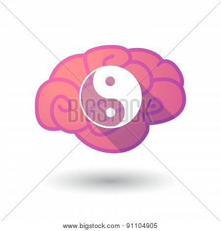 Brain Icon With A Ying Yang