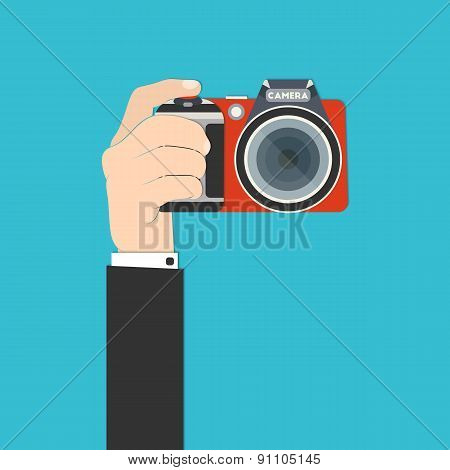 Hand With Camera