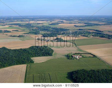 Aerial View Of South Loiret Department