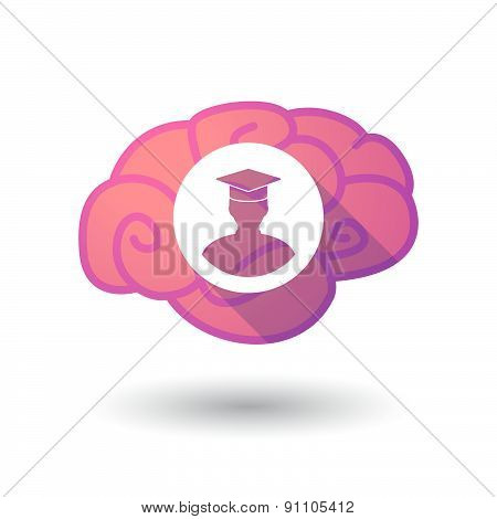 Brain Icon With A Student