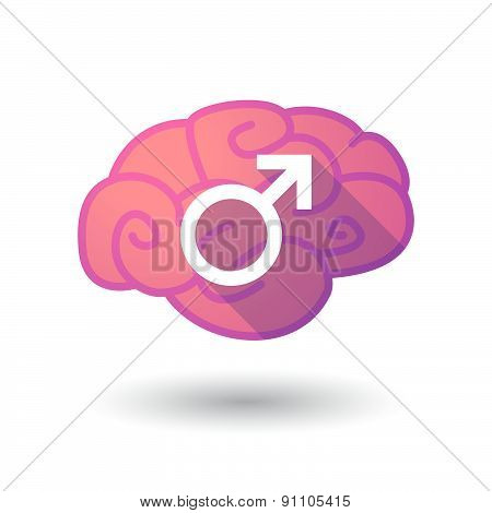 Brain Icon With A Male Sign
