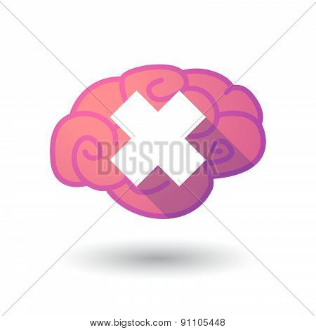Brain Icon With An Irritating Substance Sign