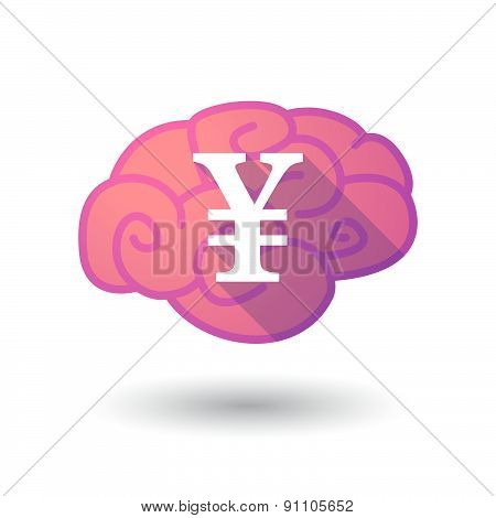 Brain Icon With A Yen Sign