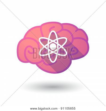 Brain Icon With an atom