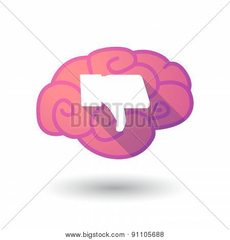 Brain Icon With A Thumb Hand