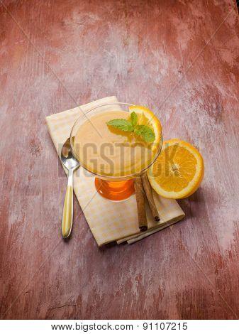 orange mousse with cinnamon