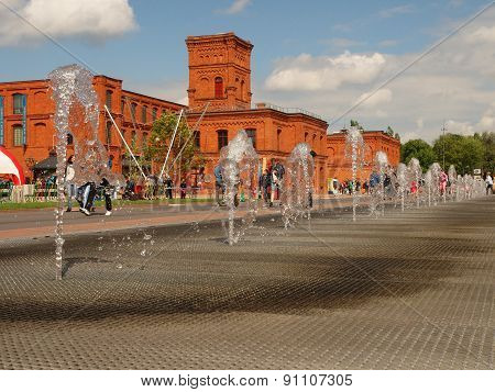 Fountain and buildings Manufactory.