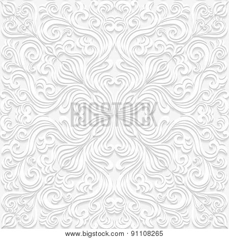 Seamless floral pattern in traditional style. Vector illustration.