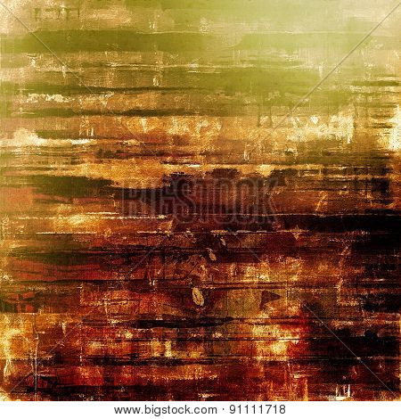 Old grunge textured background. With different color patterns: yellow (beige); brown; gray; green