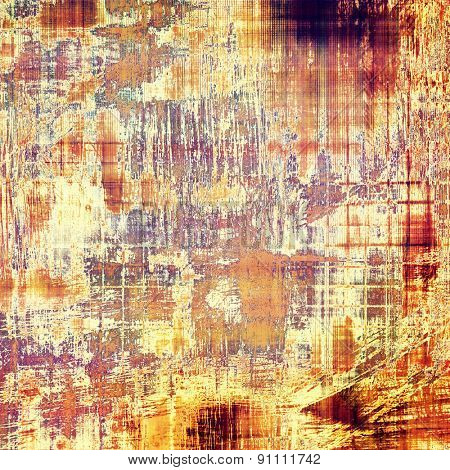 Old antique texture (for background). With different color patterns: yellow (beige); brown; purple (violet); red (orange)