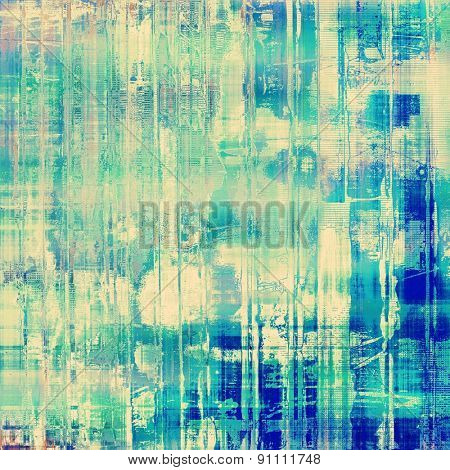 Art grunge vintage textured background. With different color patterns: yellow (beige); green; blue; cyan