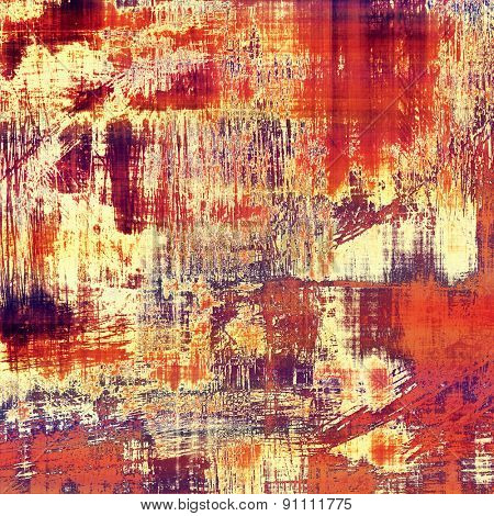 Grunge aging texture, art background. With different color patterns: yellow (beige); brown; purple (violet); red (orange)