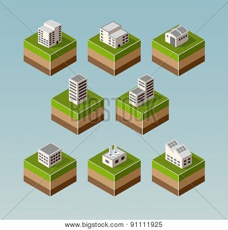Isometric Houses