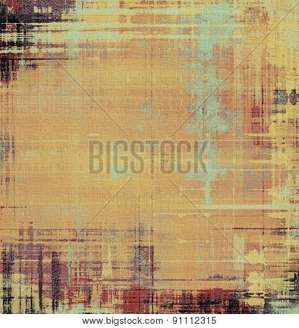 Abstract old background with rough grunge texture. With different color patterns: yellow (beige); brown; gray; cyan