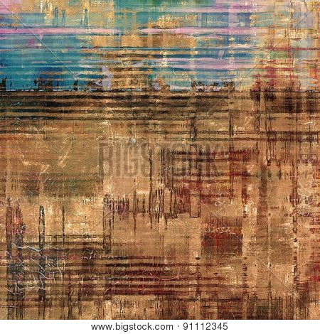 Antique vintage textured background. With different color patterns: yellow (beige); brown; pink; blue