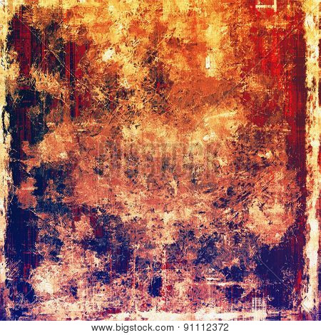 Old antique texture (for background). With different color patterns: yellow (beige); blue; purple (violet); red (orange)
