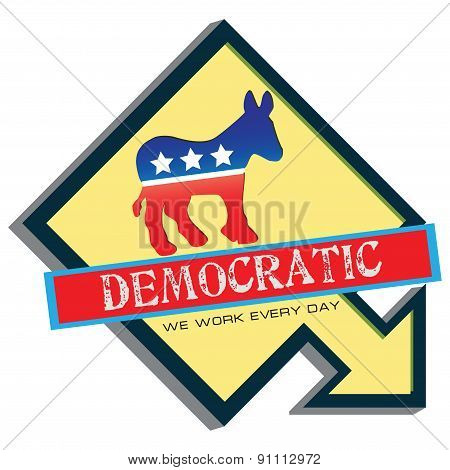 Symbol Of Us Democratic Party