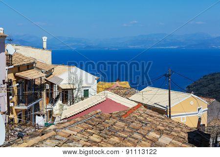 Corfu town in Greece