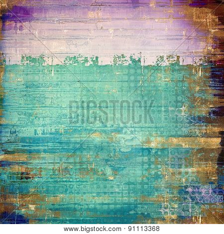 Aged grunge texture. With different color patterns: brown; green; blue; purple (violet)