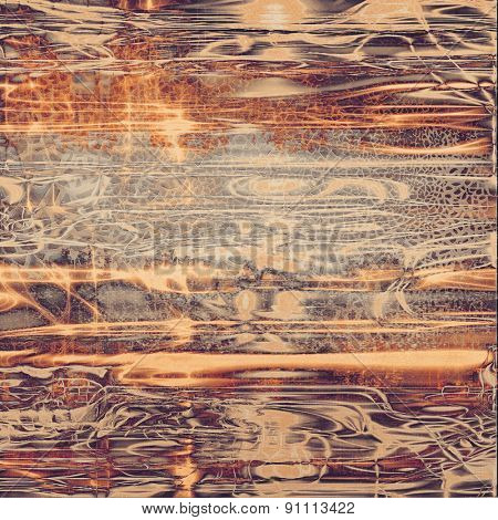 Abstract old-style background, aging texture. With different color patterns: yellow (beige); brown; gray