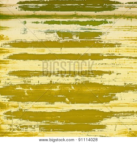 Old grunge antique texture. With different color patterns: yellow (beige); brown; green