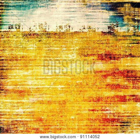 Old abstract grunge background, aged retro texture. With different color patterns: yellow (beige); brown; blue; red (orange)