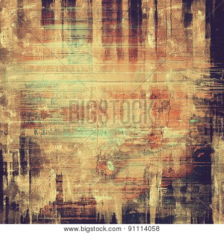 Abstract old background with rough grunge texture. With different color patterns: yellow (beige); brown; gray; black