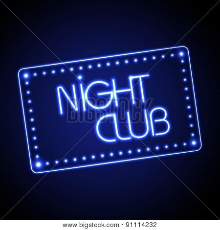 Neon Sign. Night Club