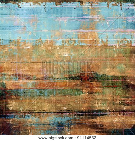 Old grunge template. With different color patterns: yellow (beige); brown; green; blue