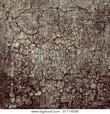 Grunge background or texture for your design. With different color patterns: brown; gray; black