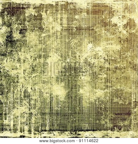 Old texture with delicate abstract pattern as grunge background. With different color patterns: yellow (beige); brown; gray; black