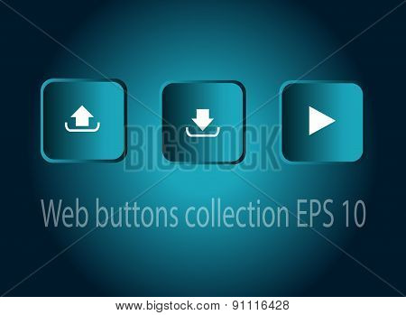 Neon Buttons Vector Illustration