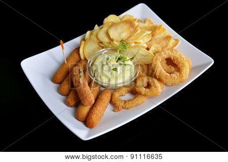 Tasty Fish Sticks And Potatoes