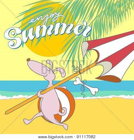 Dog Enjoying Summer