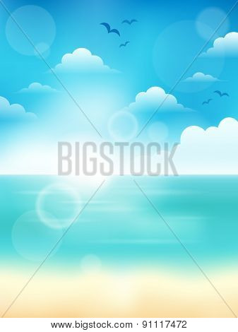 Summer theme abstract background 4 - eps10 vector illustration.