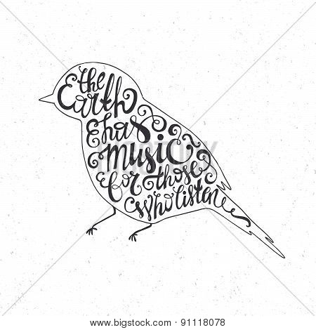 Typography Bird