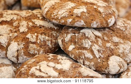 Bread With Wholemeal Flour Baked In The Wood Burning Oven