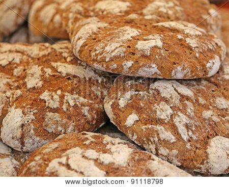 Genuine Whole Wheat Bread Baked In An Oven