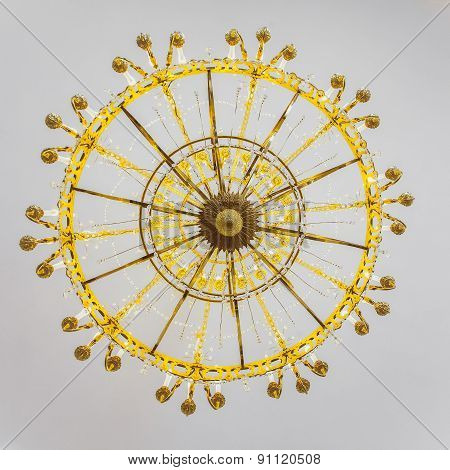 Bottom View On Old Chandelier