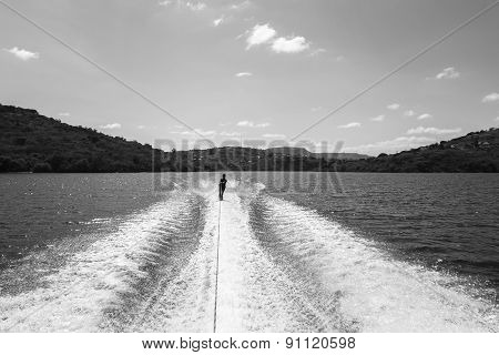 Water Skiing Teenager