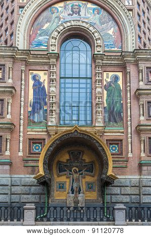 Part Of Facade Of The Church Of Saviour On Spilled Blood