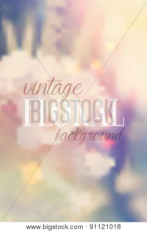Floral background with retro styled effect