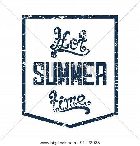 Hot summer time. Calligraphic handwritten background.