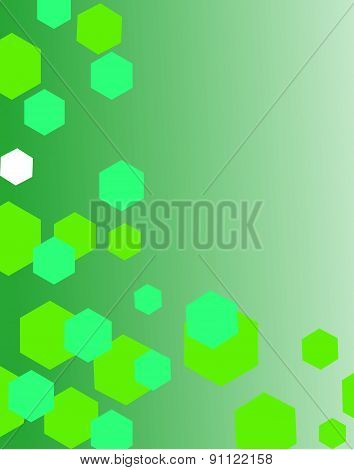 Green modern geometrical abstract background.